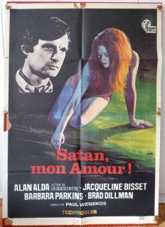 Movie Poster Spanish 1973 Alan Alda Jacqueline Bisset RARE