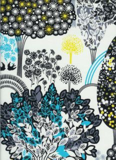 Treasures Lemon Grove Quilt Fabric by Alice Kennedy c8600 White