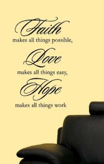 Faith Makes All Things Home Wall Deco Quote Vinyl Decal
