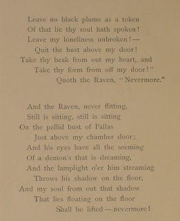 1889 Book The Raven Poem Edgar Allan Poe Sci Fi Goth Occult Magic