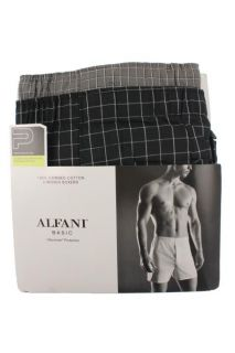 Alfani New Multi Color Plaid Cotton Pack of 2 Boxers Underwear 44 BHFO