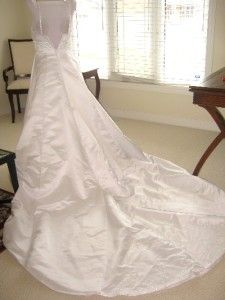 Alfred Angelo 1933 White Wedding Dress Bridal Gown 6 4