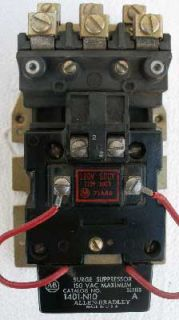Allen Bradley 709 Bod Size 1 Contactor 3P 120V Coil OPN