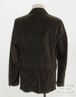 Steven Alan Mens Brown Velvet Blazer Jacket Size Medium