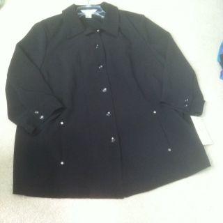 Womens Allison Daley II Blouse Size 18 W Plus NWT Black