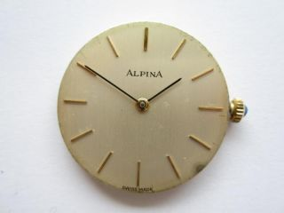 Alpina Swiss Peseux 7001 Gents Watch Movement Runs and Keeps Time