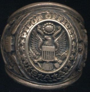 WWII Silver & Gold Pilot Officer Ring Air Force Corps USAAF World War