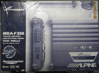New Alpine MRA F350 Amp Amplifier Car Mobile Electronic 50W