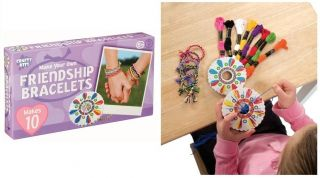 Friendship Bracelet Making Kit Thread Wheel Girl Craft Party Sleep