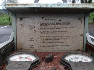 1960s Vintage Allen F260 Automotive Battery Tester