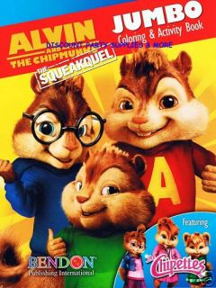 Alvin and The Chipmunks Coloring Activity Book