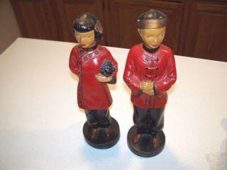 Alexander Backer Chinese Asian Lot of 2 Oriental Figure