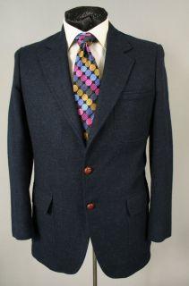 John Alexander Slim Mens Navy Blue Blazer 40 R 40R