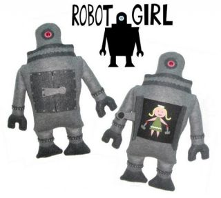 Michelle Valigura Robot Girl Stuffed Plush Design Art Amanda