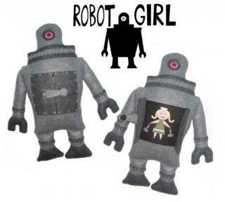 Michelle Valigura Robot Girl Stuffed Plush Design Art Amanda