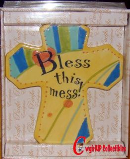 53177 Bless This Mess Cross Wall Plaque Kitchen Inspiration