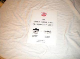 American Football league championship press guide Oakland Raiders   NY