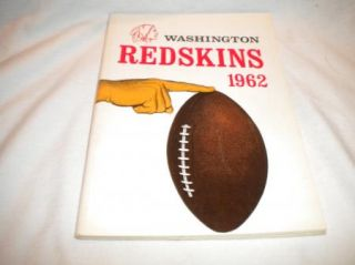 NFL National Football League Media Press Guide Mint 1962 Washington