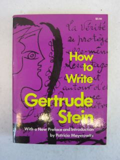 Gertrude Stein How to Write Dover Publication 1975 PB