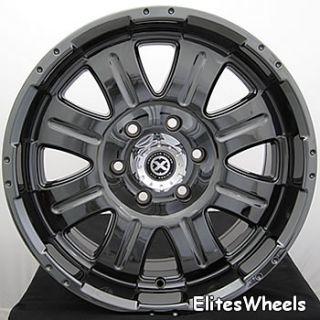 new set of 4 black chrome 18 inch punisher wheels