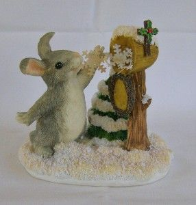 Dean Griff Charming Tails Sending Snow Your Way Bunny Rabbit Christmas