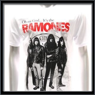 Sz L Ramones T Shirt Vtg American Retro Rock Band Punk