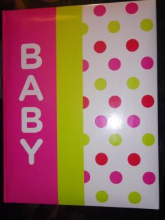 Amy COE Pink Green Dot Baby Girl First Year Record Journal Keepsake