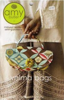 Amy Butler Designs Velma Bags Handbag Shoulder Bag Sewing Pattern