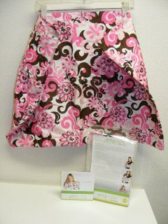 Amy Coe Baby Sling L/ XL Pink Brown Pocket Excellent Flower By the