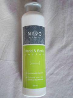 Nevo Dead Sea Spa Hand Body Lotion Almond 240ml New