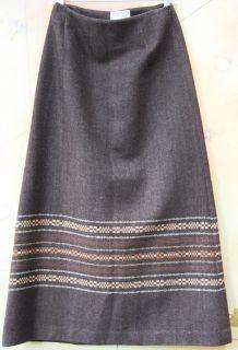 Pendleton 8 Native American Indian blanket long skirt 100% wool earth