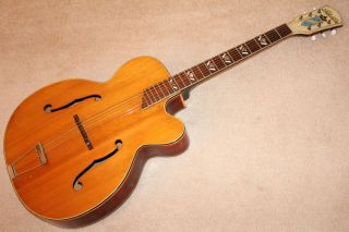 1950s Kay Silvertone top of the line fancy vintage archtop guitar COOL