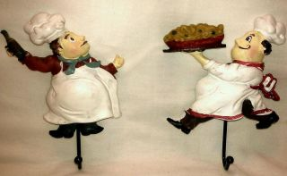 FAT CHEF ITALIAN BISTRO WALL HOOK TOWEL HOLDER HOME DECORATION