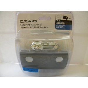 Craig 2 GB  Player with Portable Amplified Speakers