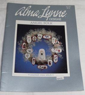 Alma Lynne Designs Angel Folk Counted Cross Stitch Book