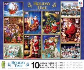 Christmas Holiday Time New 2012 Santa Claus Tree Eve 10 Jigsaw Puzzle