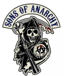 Sons of Anarchy SOA SAMCRO Reaper Licensed Biker Patch