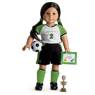 NEW in Box American Girl Doll MYAG Soccer Star Outfit + Charm Uniform