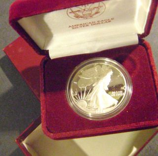 1988 s Proof American Silver Eagle 1 oz Fine 999 Silver USA Mint