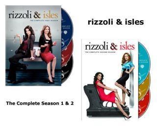 Rizzoli Isles The Complete First Second Season 1 2 DVD 2011 3 Disc Set