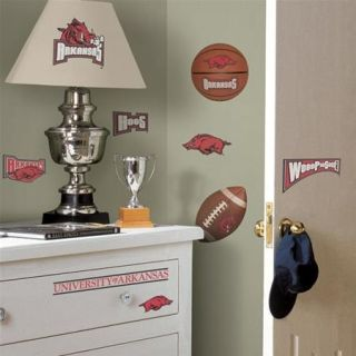University of Arkansas Peel and Stick Wall Decals Appliques New SEALED