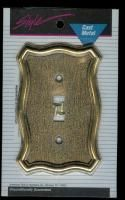 Vintage Cast Brass Light Switch Plate Covers by American Tack Hardware