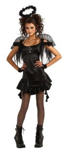 Gothic Angel Dark Fallen Angel Princess Halloween Teen Costume Size
