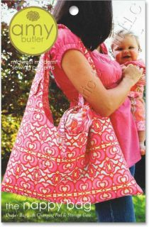 Amy Butler Nappy Bag Diaper Changing Pad Storage Case Sewing Pattern