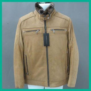 Andrew Marc Mens Latte Fur Coat s Rtl $1 095 00 Jmto
