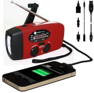 Emergency Solar Hand Crank Am FM NOAA Radio Flashlight Smart