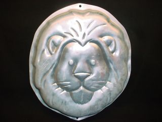 Wilton JUNGLE LION cake pan Big King Cat ZOO ANIMAL mold tin Wildlife