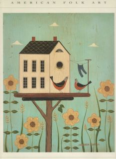 Warren Kimble American Folk Art Birdhouse Print