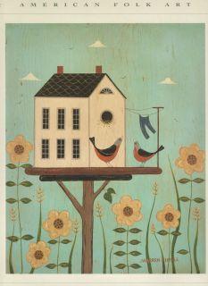Warren Kimble American Folk Art Birdhouse Print