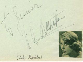 Lili Damita Vintage 1930s Signed Album Page Autographed Errol Flynn